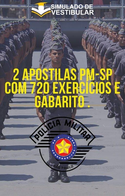 2 APOSTILAS PM-SP COM 720 EXERCÍCIOS E GABARITO .